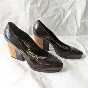 Dries Van Noten patent leather shoes 9(39) in EUC